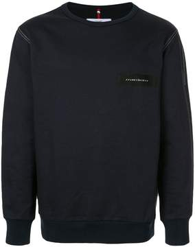 Oamc Lumières patch detail sweatshirt