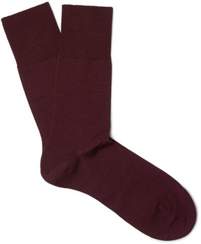 Falke Airport Mélange Virgin Wool-Blend Socks
