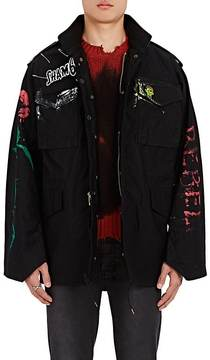Alpha Industries Men's M-65 Hand-Painted Cotton-Blend Field Jacket