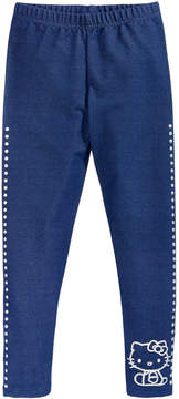 Hello Kitty Denim-Look Leggings, Little Girls (4-6X)