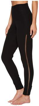 Yummie by Heather Thomson Leggings with Mesh Elastic at Sides Women's Casual Pants