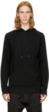 Helmut Lang Black Exposed Seam Hoodie