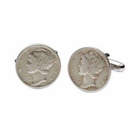 Asstd National Brand Mercury Dime Cuff Links