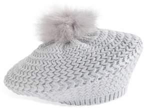 Apt. 9 Women's Faux Fur Pom Pom Knit Beret