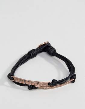 ICON BRAND Coin Wax Woven Bracelet In Black
