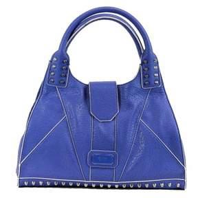 GUESS Women's Rebel Stud 454823 Blueberry Carryall Handbag
