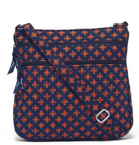Vera Bradley Navy & Orange Mini Concerto Triple-Zip Hipster Crossbody Bag - NAVY - STYLE