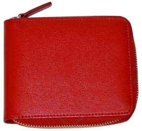 Royce Leather Royce RFID Blocking Saffiano Leather Zip Around Wallet - Red