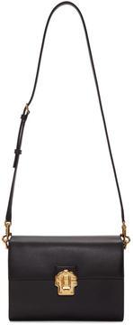 Dolce & Gabbana Black Iguana-Embossed Lucia Shoulder Bag