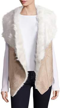 Design History Women's Faux Shearling Vest