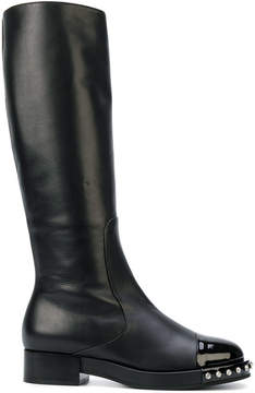 No.21 studded knee-high boots