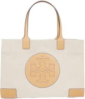 Tory Burch Embroidered Logo Tote - NATURAL IVORY - STYLE