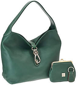 Dooney & Bourke As Is Leather Hobo with Logo Lock - ONE COLOR - STYLE