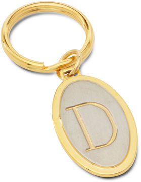 Accessories Engravable Two Tone Oval Key Chain