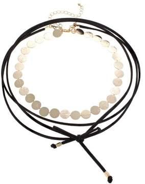 Danielle Nicole Goldtone Disc Wrap Choker Necklace