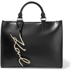 Karl Lagerfeld K/metal Leather Tote - Black