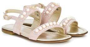 Roberto Cavalli open-toe studded sandals