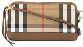 Burberry Tan Leather and House Check Abingdon Clutch Bag (New with Tags) - ONE COLOR - STYLE