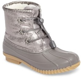 Jack Rogers Girl's Miss Chloe Metallic Rain Boot