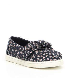 Toms Girls' Tiny Floral Print Bow Detail Alpargata Shoes