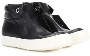 Rick Owens Island Dunk leather sneakers