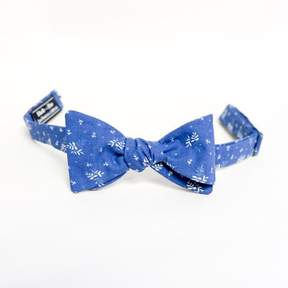 Blade + Blue Royal Blue Botanical Floral Print Bow Tie