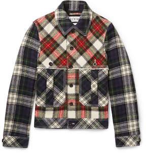 Loewe Patchwork Checked Wool Blouson Jacket