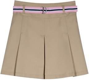 Chaps Girls 4-16 & Plus Size School Uniform Belted Skort