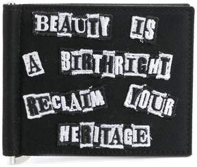Valentino embroidered patch wallet