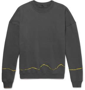 Haider Ackermann Perth Embroidered Loopback Cotton-Jersey Sweatshirt