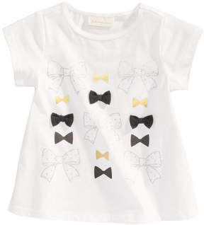 First Impressions Bows-Print Cotton T-Shirt, Baby Girls (0-24 months), Created for Macy's