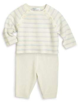 Ralph Lauren Baby's Two-Piece Striped Cashmere Sweater & Pants Set