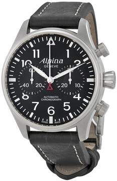 Alpina Startimer Pilot Chronograph Black Dial Automatic Men's Watch