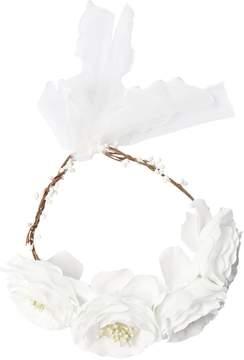MonnaLisa Satin Crown Headband W/ Flowers