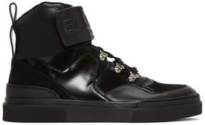 Balmain Black Cleveland High-Top Sneakers