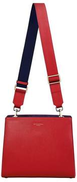 Aspinal of London Small Ella Hobo In Scarlet Saffiano With Scarlet Navy Strap