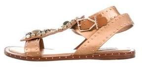Ivy Kirzhner Embellished Metallic Sandals