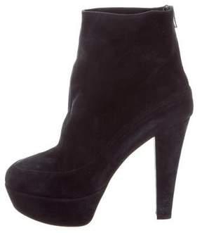 Marni Suede Platform Ankle Boots