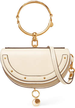 Chloé Nile Bracelet Mini Leather Shoulder Bag - Off-white