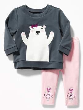Old Navy Graphic Sweatshirt & Leggings Set for Baby