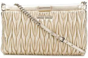 Miu Miu quilted logo clutch bag