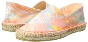 Stella McCartney Rae Marble Print Espadrilles w/ Ice Cream Cones Girl's Shoes