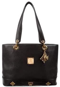 MCM Leather Medium Tote Bag