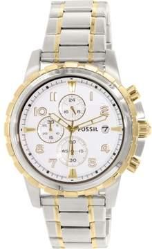 Fossil Men's FS4795 Dean Stainless Steel Watch, 45mm