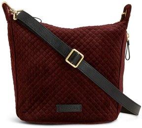 Vera Bradley Carson Quilted Velvet Mini Cross-Body Bag - CHOCOLATE RAISIN - STYLE