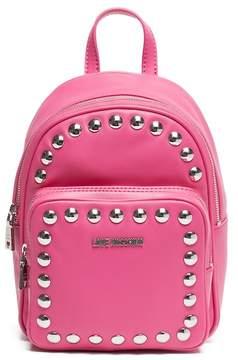 Love Moschino Studded Fuxia Mini Backpack