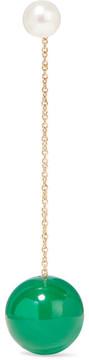 Delfina Delettrez 18-karat Gold, Pearl And Agate Earring