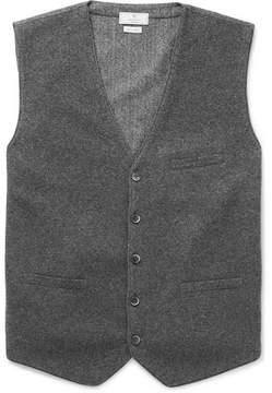 Hackett Flannel And Herringbone Wool Waistcoat