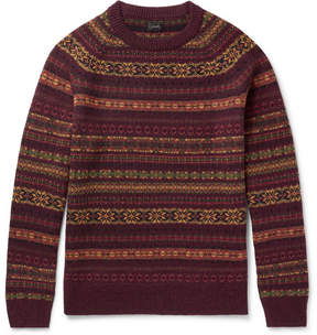 J.Crew Glendorn Fair Isle Wool Sweater
