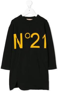 No.21 Kids logo print sweatshirt dress